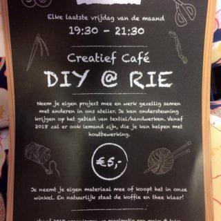 Creatief cafe avond bij Winkel van Rie