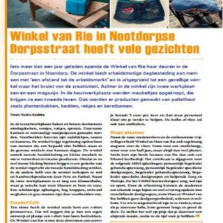nootdorpNu creatief cafe stage Winkel van Rie