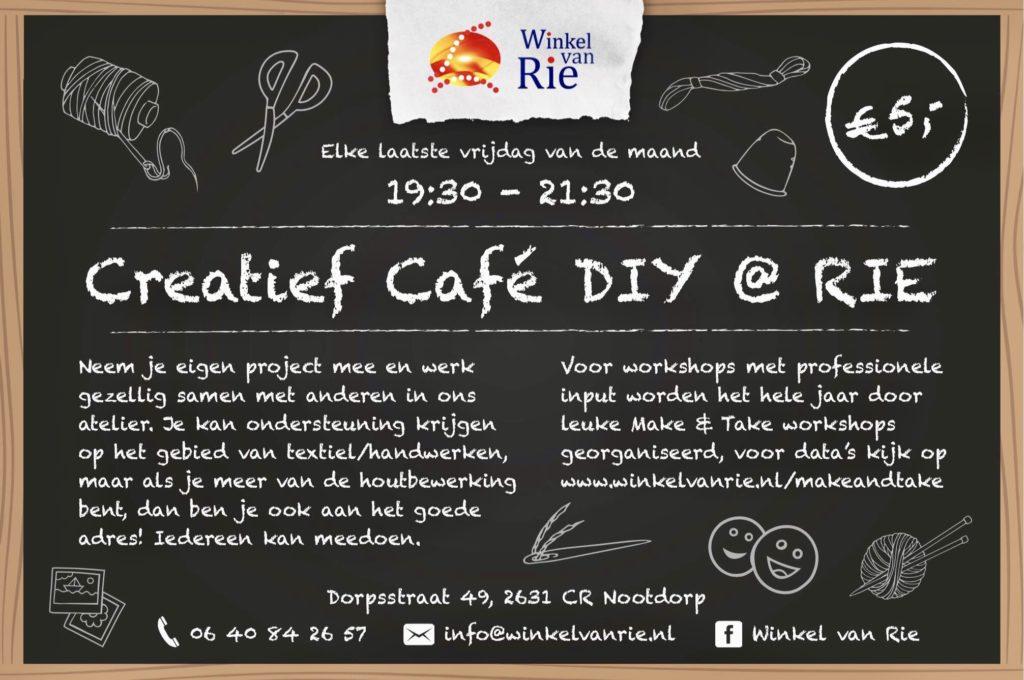 Creatief Cafe bij Winkel van RIe